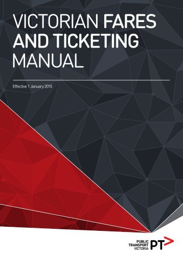 VICTORIAN FARES AND TICKETING MANUAL