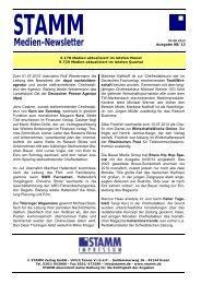 Medien-Newsletter August 2012 - STAMM Verlag GmbH