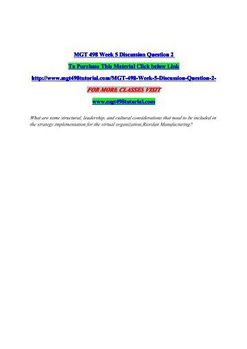 Mgt 498 riordan virtual organization and environmental scan paper