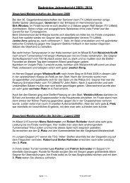 Badminton Jahresbericht 2009 / 2010
