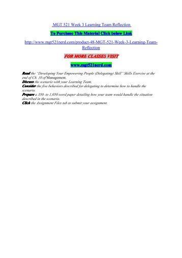 Mgt521 week 3 team a paper