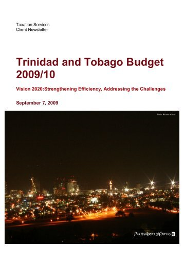 Trinidad and Tobago Budget 2009/10