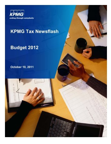 KPMG Tax Newsflash Budget 2012