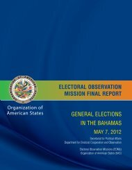 ELECTORAL OBSERVATION MISSION FINAL REPORT GENERAL ELECTIONS IN THE BAHAMAS
