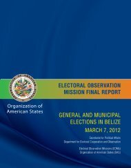 general and municipal elections in belize electoral observation ...
