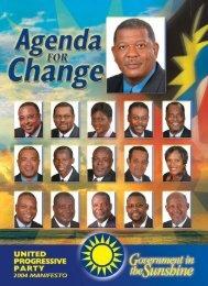UPP 2004 Manifesto - Antigua Elections