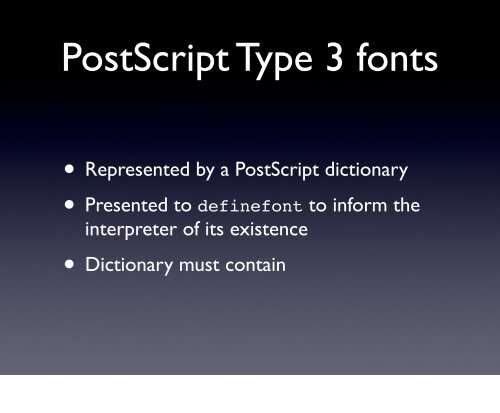 PostScript fonts • Post