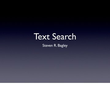 Text Search