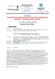 Cooperation and Networking of Universities and ... - Klaus Schafler