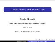 Graph Theory and Modal Logic