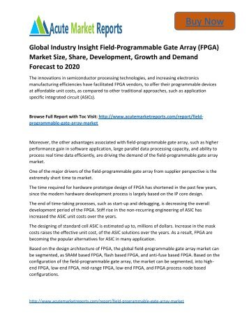 global field programmable gate array fpga market Global field programmable gate array market report, published by variant  market research, forecast that the global market is expected to.