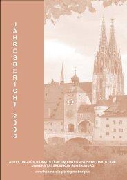 Jahresbericht 2008 - Universitätsklinikum Regensburg