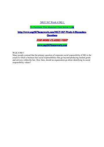 MGT 567 Week 4 DQ 1 - mgt567homework.com