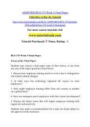 ASHFORD BUS 375 Week 5 Final Paper/ Tutorialrank