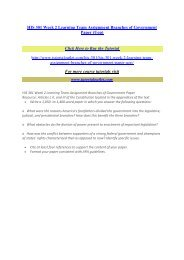 HIS 301 Week 2 Learning Team Assignment Branches of Government Paper / Tutorialoutlet