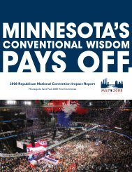 2008 Republican National Convention Impact Report