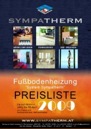 Preisliste Heizung 2009 excl. MwSt. (Pdf) - Sympatherm