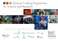 German Funding Programmes for Science and Research