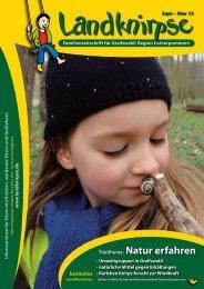 Titelthema: Natur erfahren - Landknirpse