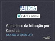 Guidelines da Infecção por Candida