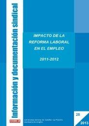Impacto de la Reforma Laboral en el empleo - Comisiones Obreras ...