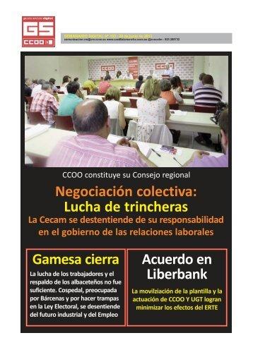 Negociación colectiva Lucha de trincheras Gamesa cierra Acuerdo en Liberbank