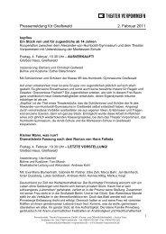 Pressemeldung für Greifswald 2. Februar 2011 - Greifswald online