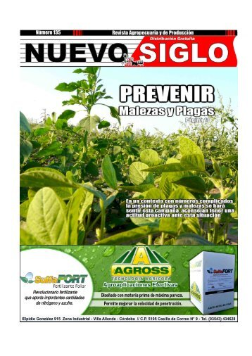 Revista Agropecuaria Nuevo Siglo Número 135