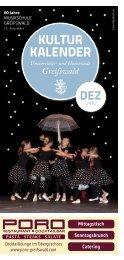 Kultur Kalender - Hansestadt Greifswald
