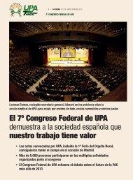 El 7º Congreso Federal de UPA demuestra a la sociedad española ...