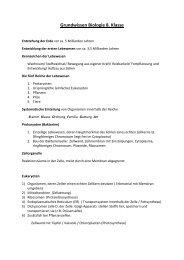 Grundwissen Biologie 8. Klasse