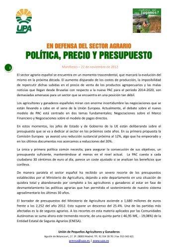 POLÍTICA PRECIO Y PRESUPUESTO