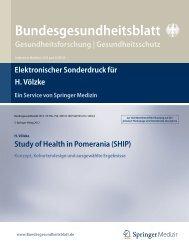 Bundesgesundheitsblatt - Ernst-Moritz-Arndt-Universität Greifswald