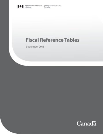Fiscal Reference Tables