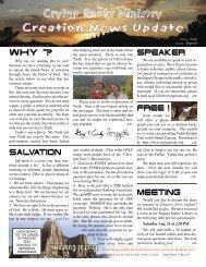 Creation News Update