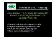 Fundación UAL - Anecoop Genética y Fisiología del Desarrollo Vegetal (AGR176)
