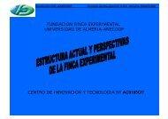 Estructura actual y perspectivas de la finca experimental