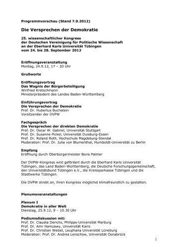 Programmvorschau 2012 - DVPW