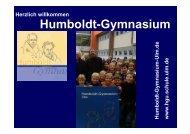 Präsentation als pdf-Datei - Humboldt-Gymnasium - Ulm