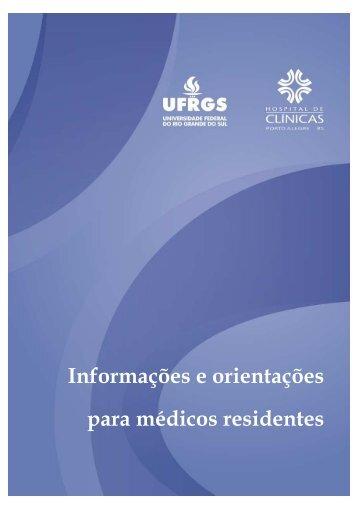 Informações e orientações para médicos residentes