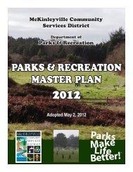 parks & recreation master plan - McKinleyville Community Services ...
