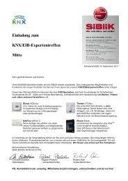 Einladung zum KNX/EIB-Expertentreffen Mitte - Siblik Elektrik Ges ...