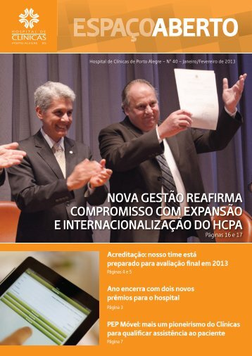 NOVA GESTÃO REAFIRMA COMPROMISSO COM EXPANSÃO E INTERNACIONALIZAÇÃO DO HCPA