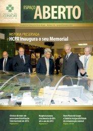 HCPA inaugura o seu Memorial