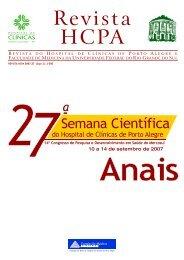Anais da 27º Semana Científica - Hospital de Clínicas de Porto Alegre