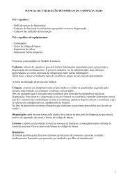 1 MANUAL DE UTILIZAÇÃO DO MÓDULO DA FARMÁCIA AGHU ...