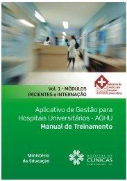 módulos PACIENTE e INTERNAÇÃO - Hospital de Clínicas de Porto ...
