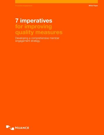 7 imperatives for improving quality measures