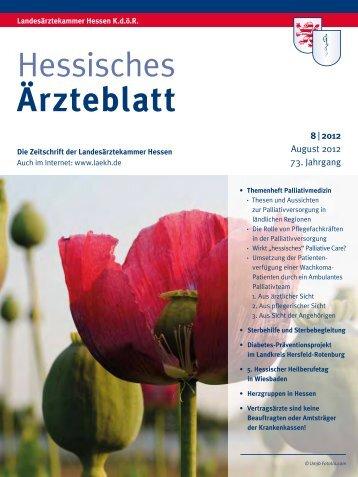 Hessisches Ärzteblatt August 2012 - Landesärztekammer Hessen
