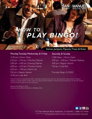 PLAY BINGO!